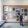Overzicht PICK ME, met linksonder dit werk van Celine van den Boorn in lijst.