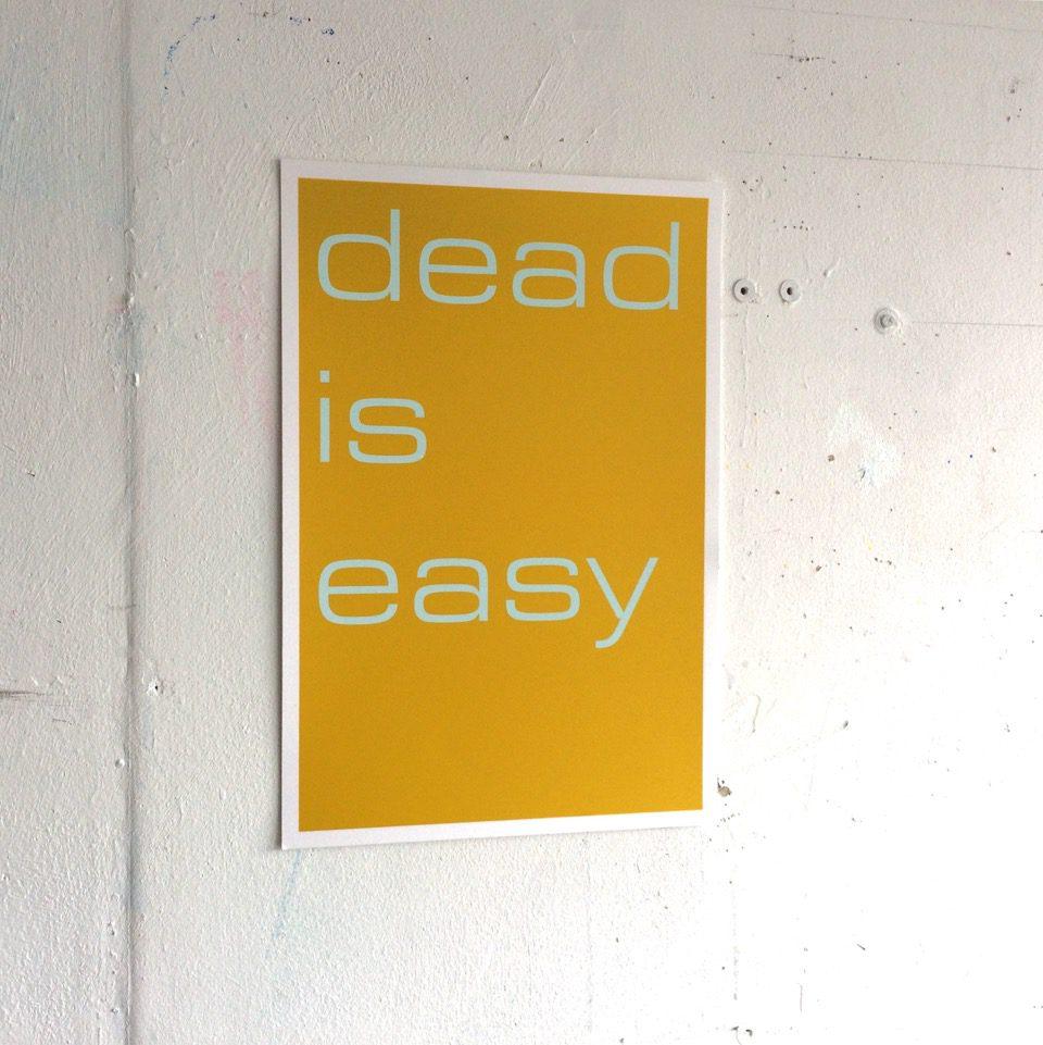 Tim Ayres Dead is Easy zeefdruk zijkant