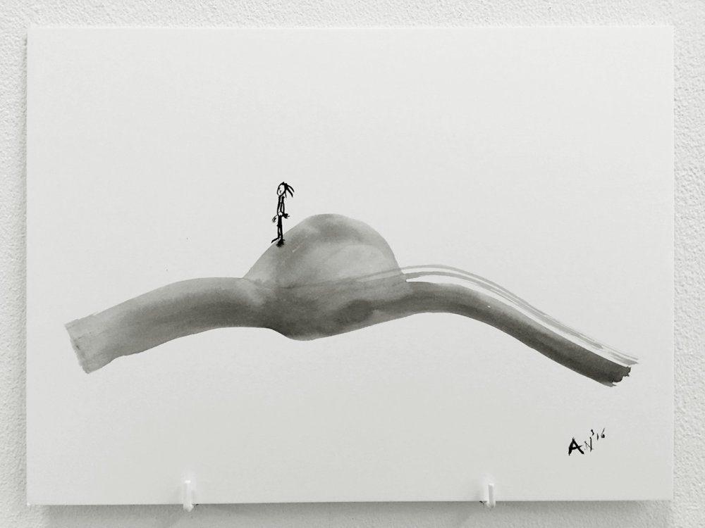 Man on a rock – Antoinette Nausikaa