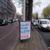 Poster Lust For Life in de straat