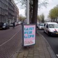 Poster Lust For Life in de straat
