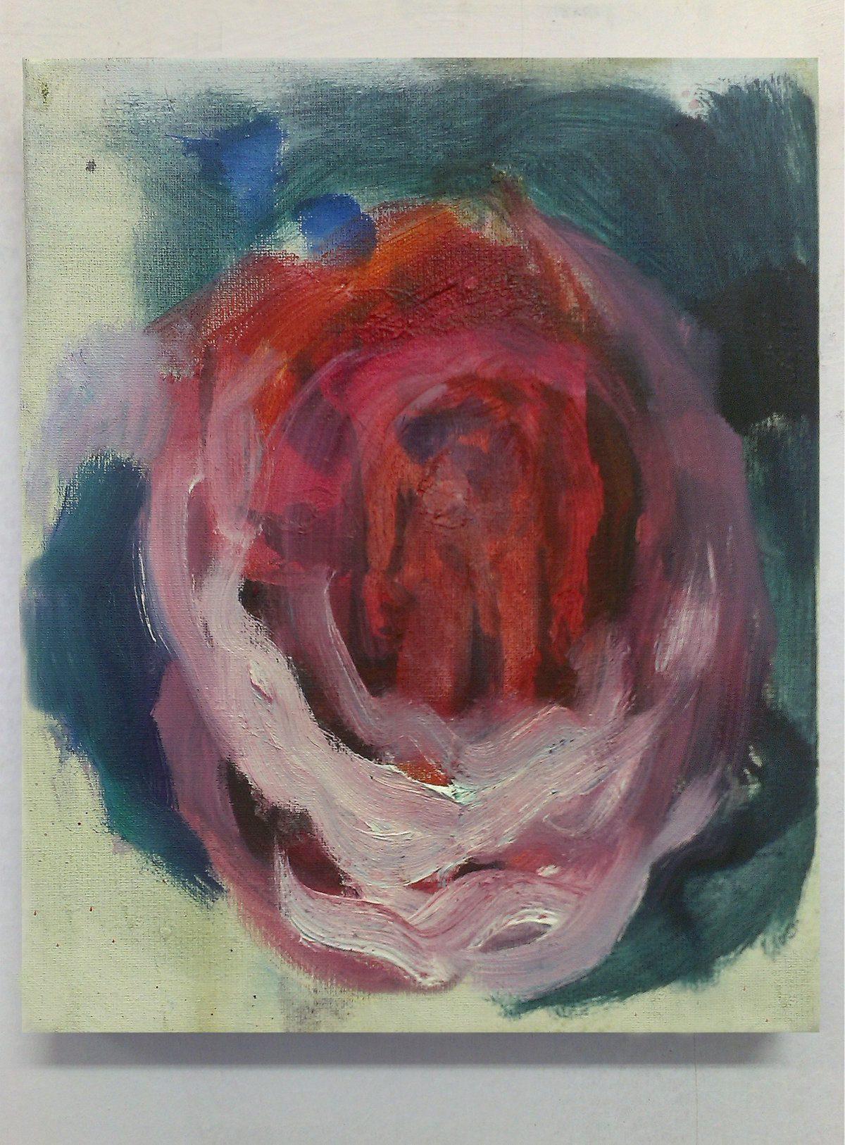 Eva Raeder, Rose, 30 x 25cm