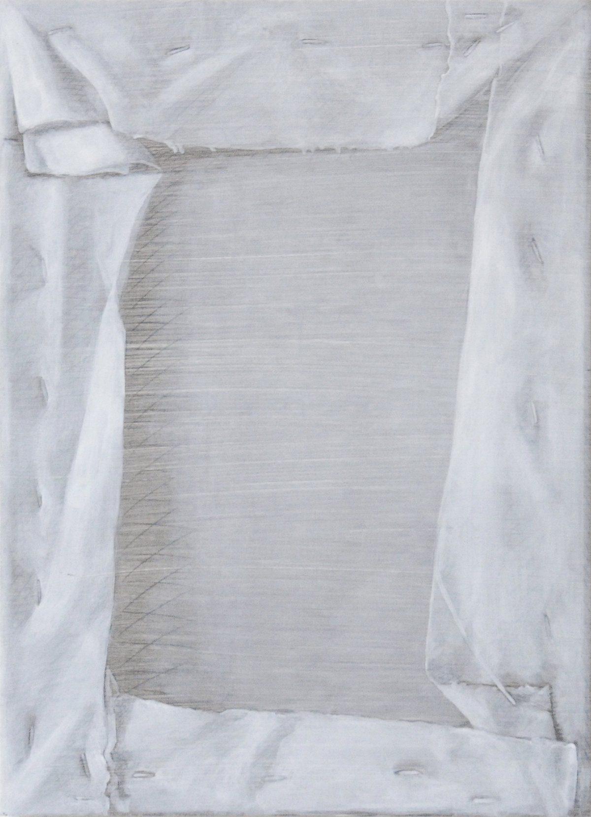 Niek Hendrix – Study of a Window – 27,5x38cm Olieverf en potlood op paneel, unica in reeks van 3