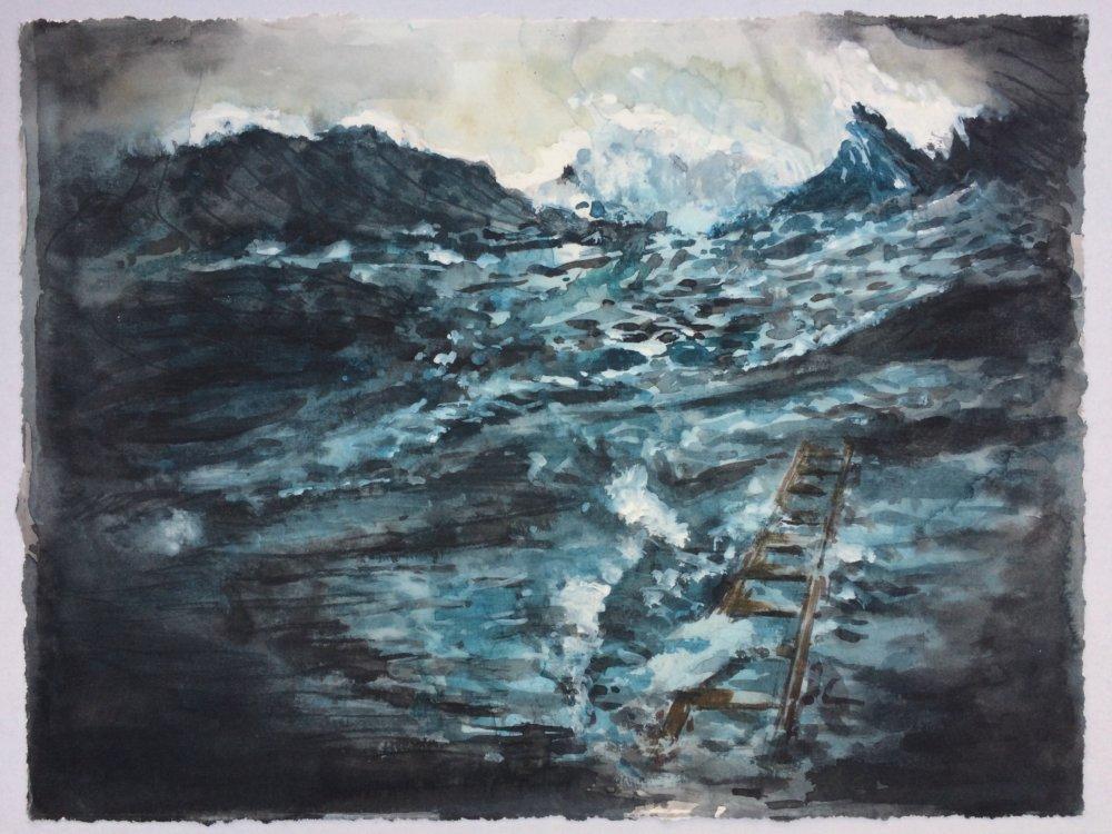 Neutral zone #9 (Lucebert's ladder), (2017), Arjan van Helmond zonder lijst