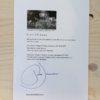Voorbeeld van een Strandbeest-fossiel certificaat.