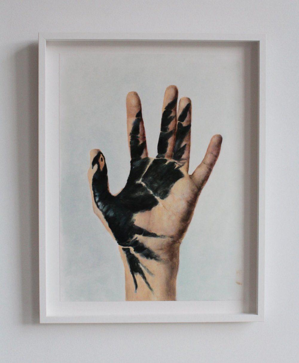 Jasper Hagenaar Feniks hand editie in lijst