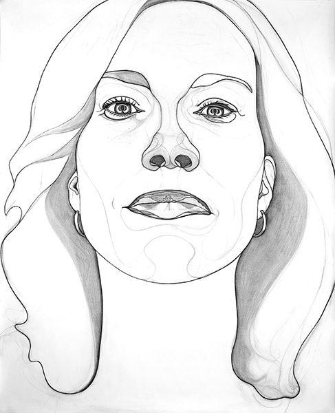 Rosemin Hendriks, 2011, houtskool, potlood, pastelpotlood, 145 x 119 cm