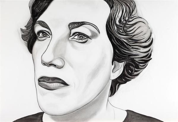 Rosemin Hendriks, 2013, houtskool, conté, pastel, 75 x 110 cm
