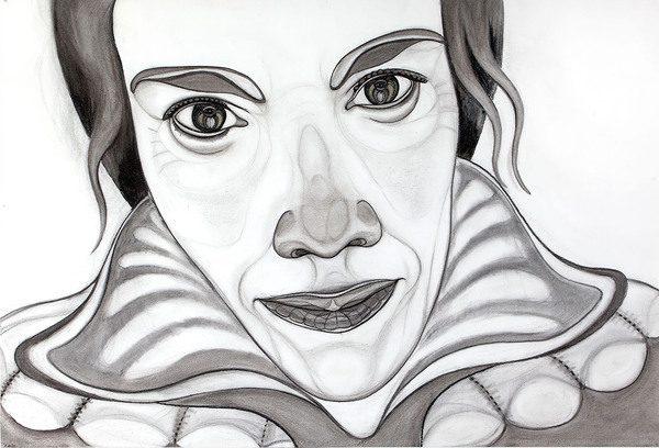 Rosemin Hendriks, 2015, houtskool, conté, pastel