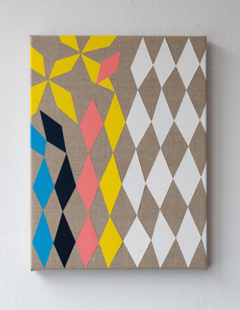 Harry Markusse Untitled 2019 40 x 30 cm Acrylverf op linnen