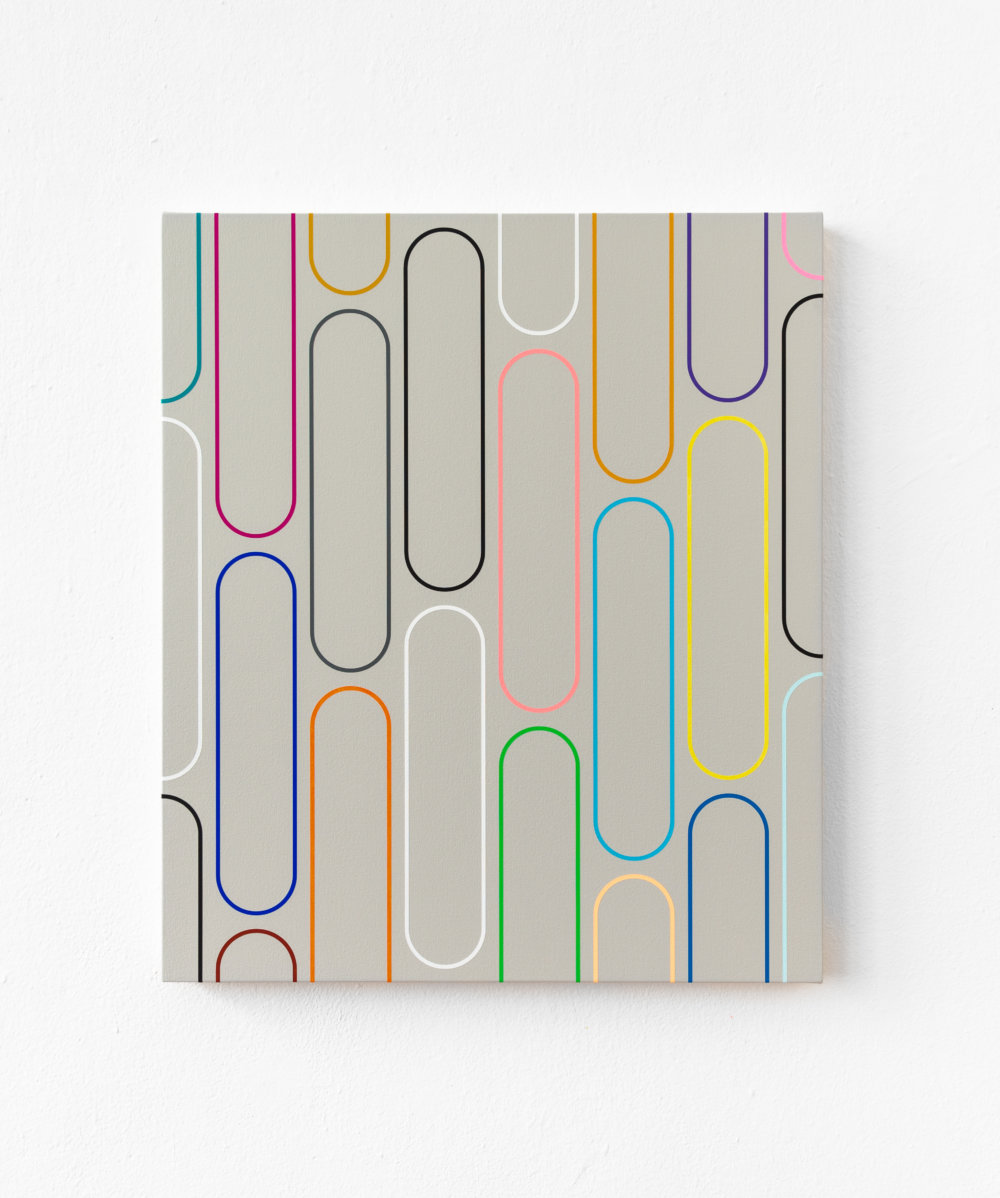 20-18 Jan van der Ploeg, PAINTING No.20-18, Untitled (THE NEW NORMAL), 2020, 57 x 49 cm., acrylic on canvas