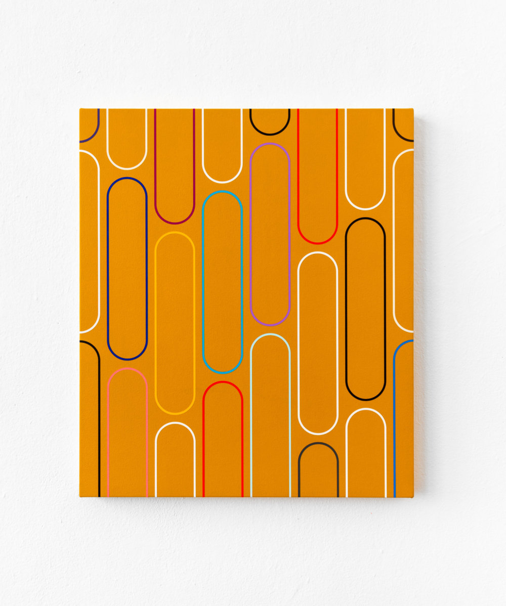 20-21 Jan van der Ploeg, PAINTING No.20-21, Untitled (THE NEW NORMAL), 2020 57 x 49 cm., acrylic on canvas
