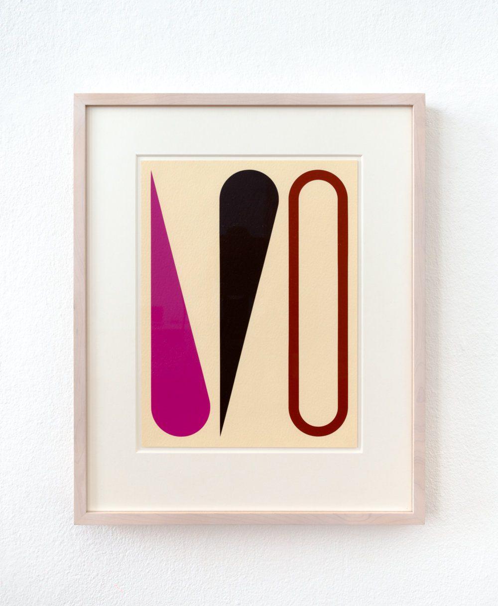 2017-11 Jan van der Ploeg WORK ON PAPER No.2017-11, Untitled, 2017, 29 x 22 cm., acrylic on paper in frame-Edit