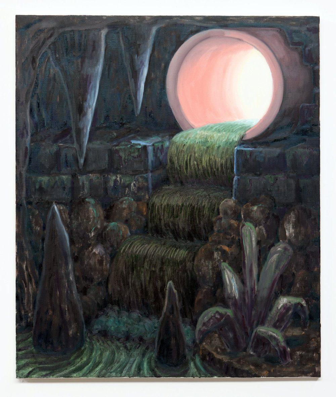Willem Weismann, Cave sewer, oil on linen, 95 x 80 cm, 2020