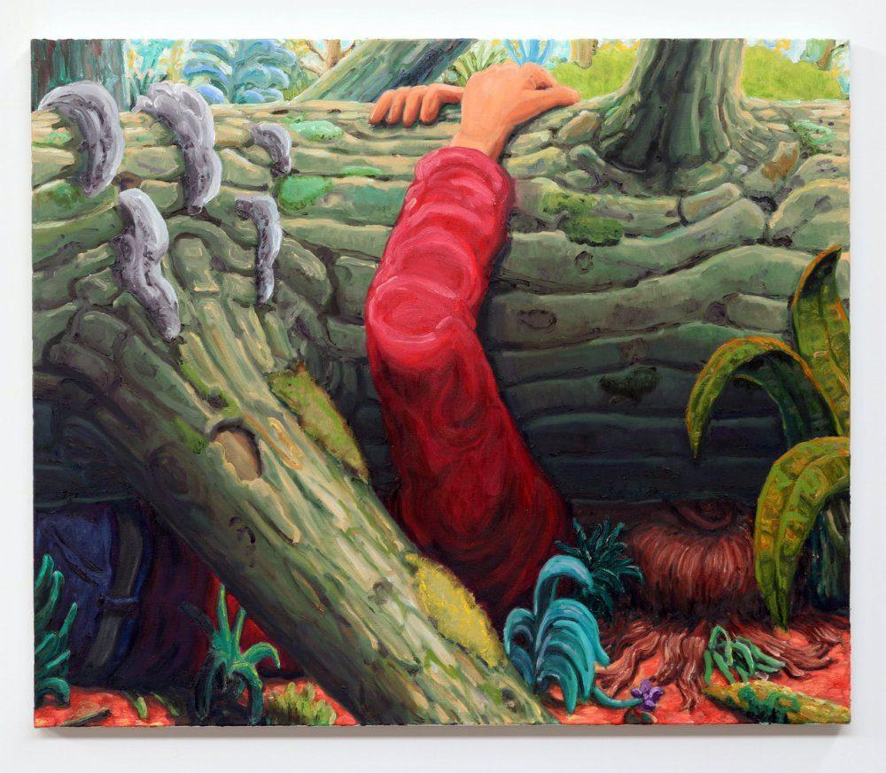 Willem Weismann, Treehugger III, oil on linen, 80 x 95 cm, 2020x