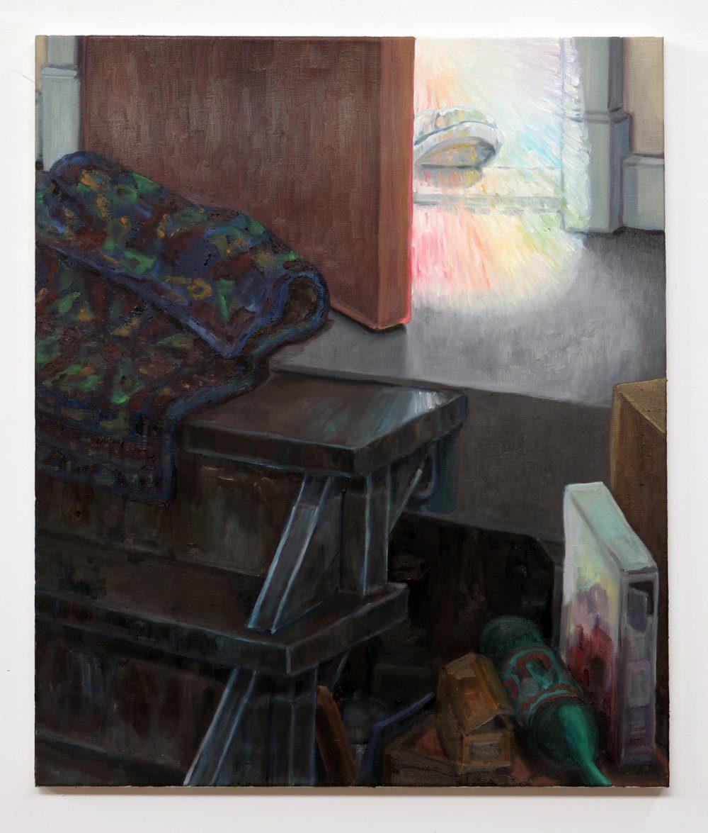 Willem Weismann, down to the basement, oil on linen, 95 x 80 cm, 2020
