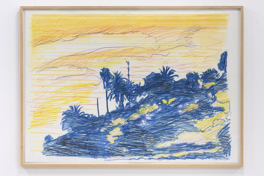 Hans Broek, Sketch for Freeway Painting (2002), 80 x 110 cm, potlood en aquarel op papier