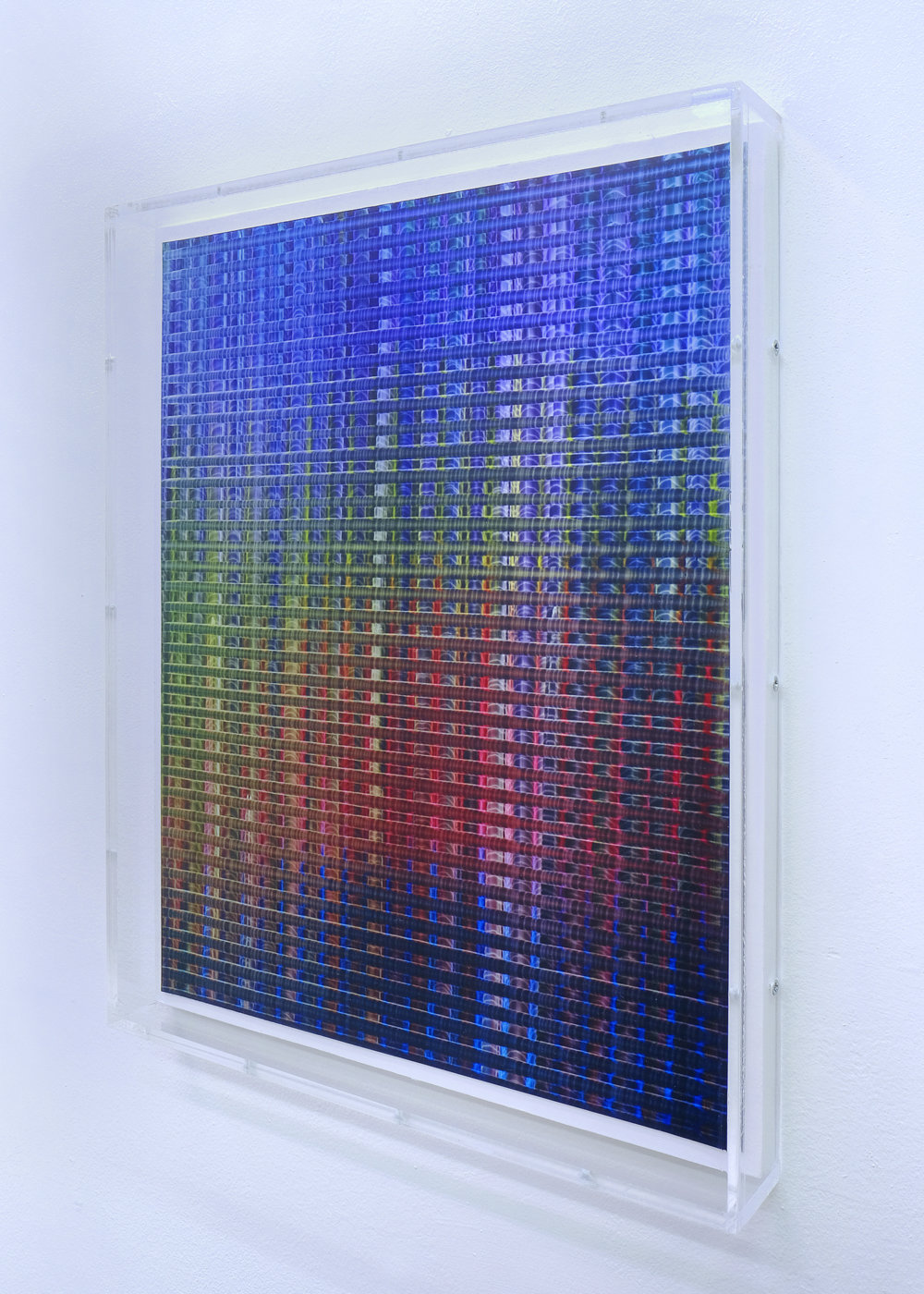 2 R Bouwman SFP0220 31.9×24.9cm (550 euro) oil on papier, in perspex lijst, 2021