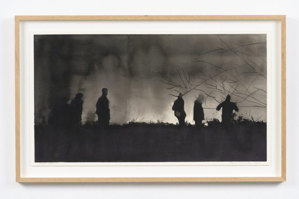 Koen Vermeule, Ghost Parc, 38 x 67 cm, gouache op papier