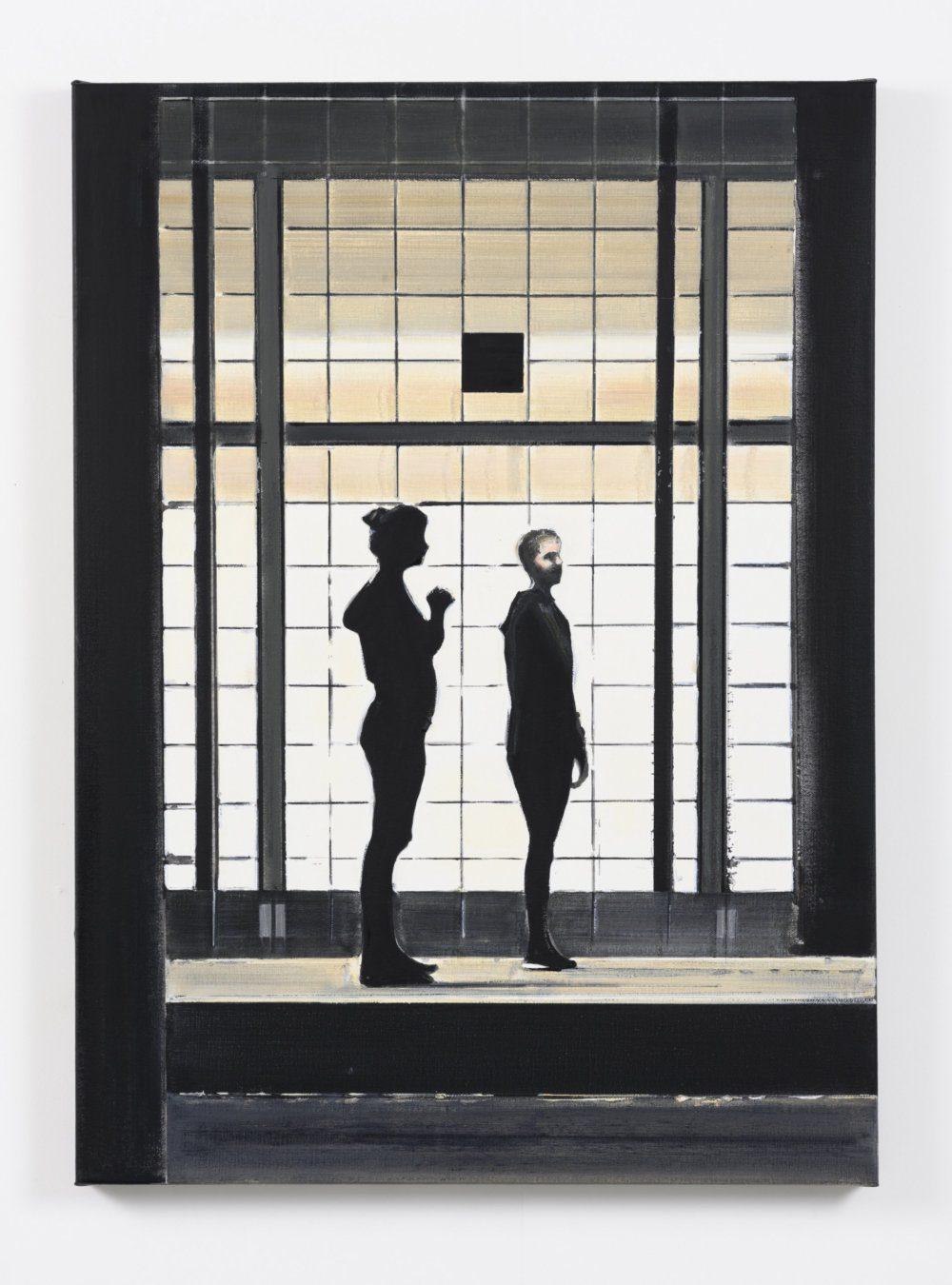 Koen Vermeule, Light Grid, 110 x 80 cm, olieverf op linnen