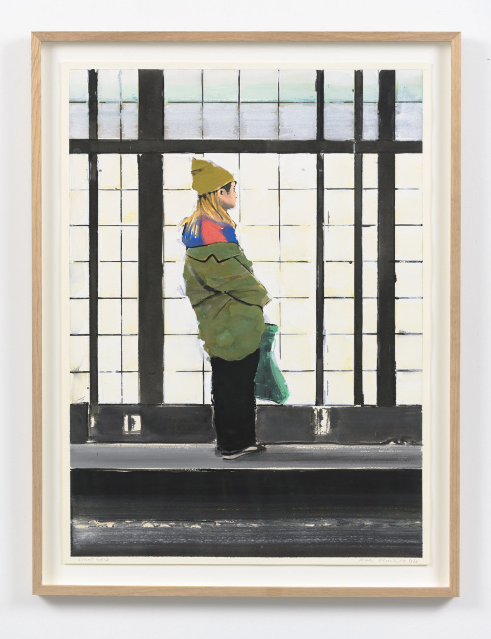 Koen Vermeule, Light Grid, 66 x 48 cm, gouache op papier