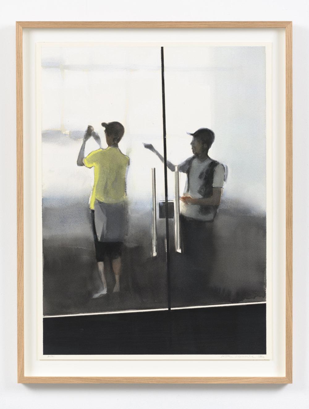Koen Vermeule, Mori 62 x 46 cm, gouache op papier