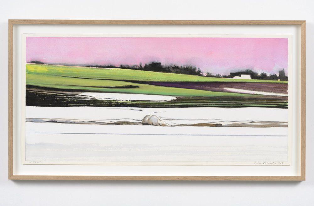 Koen Vermeule, Up North, 38 x 78 cm, gouache op papier