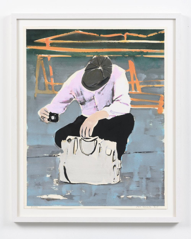 Koen Vermeule, Yoyogi, 62 x 48,5, gouache op papier