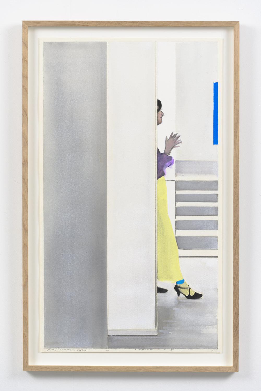 Koen Vermeule, Zonder titel, 72 x 42 cm, gouache op papier